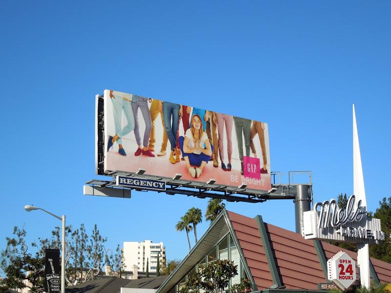 Gap Be Bright billboard