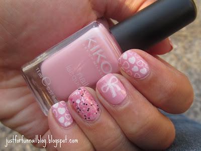 romantic pink design with Kiko 376 & Pink Panter - Lush Lacquer
