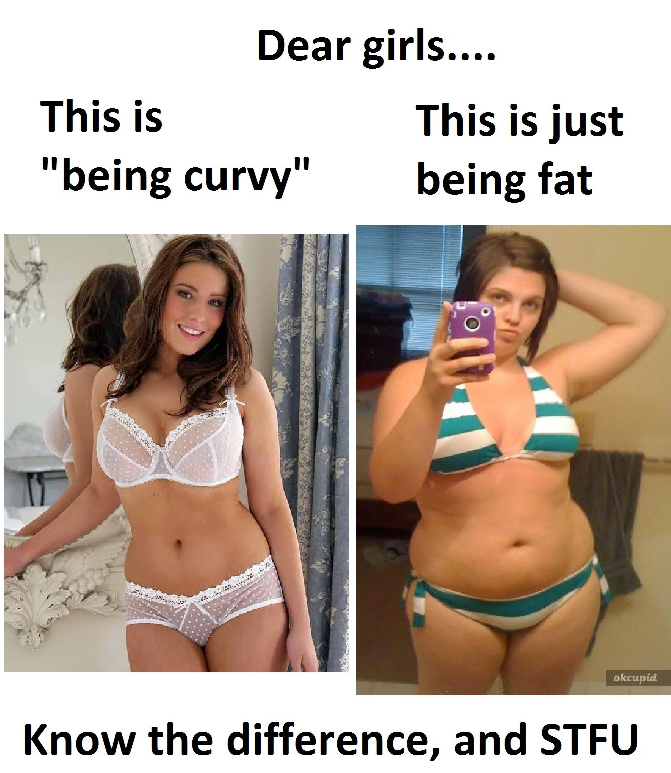 difference between fat and curvy yahoo dating