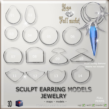 SCULPT EARRING MODEL JEWELRY