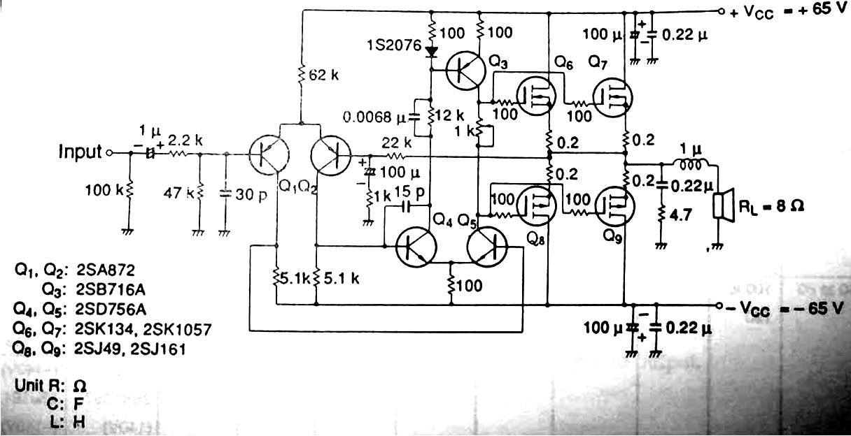 Wiring Schematic Diagram  100 Watt Mosfet Amplifier Circuit