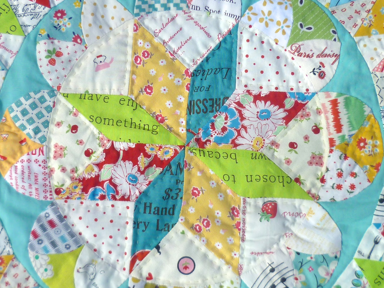 english paper piecing English paper piecing is basically the process of wrapping fabric around paper to make crisply formed shapes to be sewn together by hand once sewn, the papers can be removed and a beautifully pieced patchwork is left from which to make cushions, quilts or anything else you can think of.