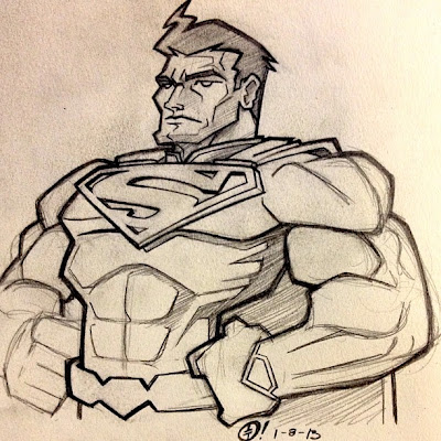 Tracy Tubera 2013 Sketch A Day - Superman