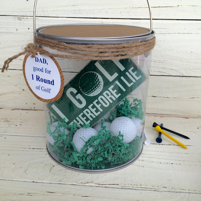 Golfer Gift Basket @craftsavy, #craftwarehouse, #nationalgolfday