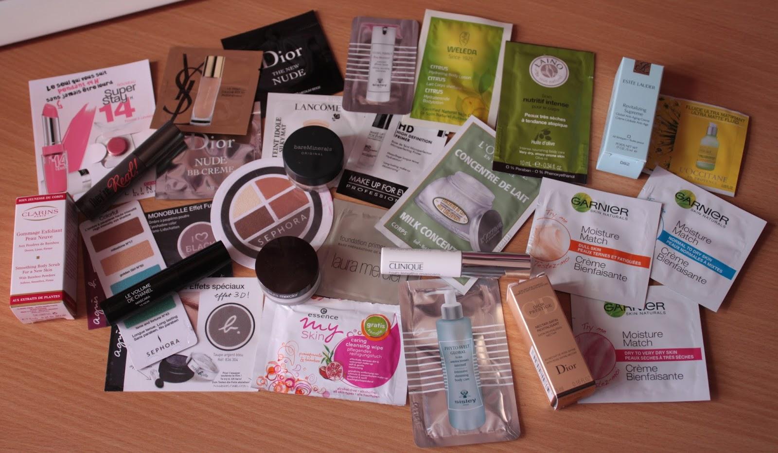 échantillons gratuits maquillage a recevoir