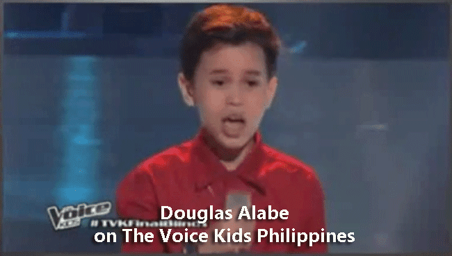 Douglas Alabe on The Voice Kids Philippines