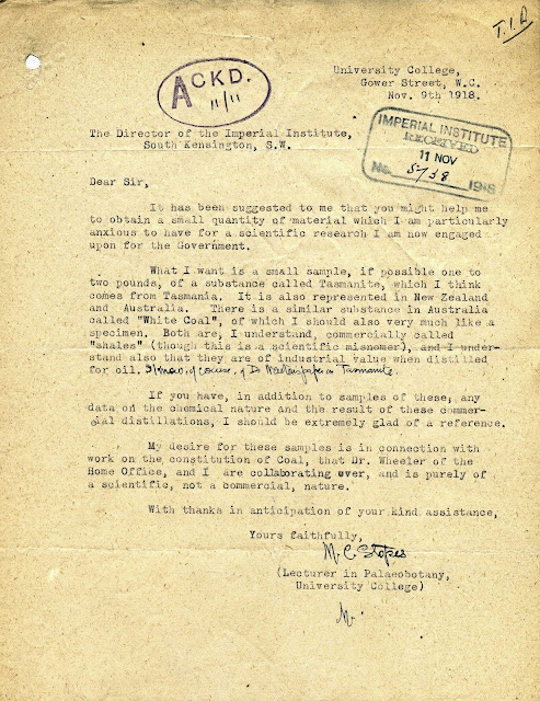 Letter from Marie Stopes