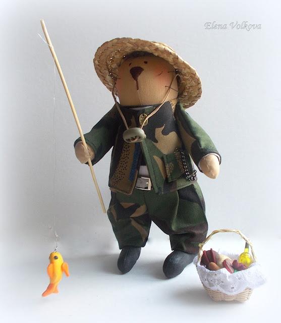 выкройка куклы рыбака