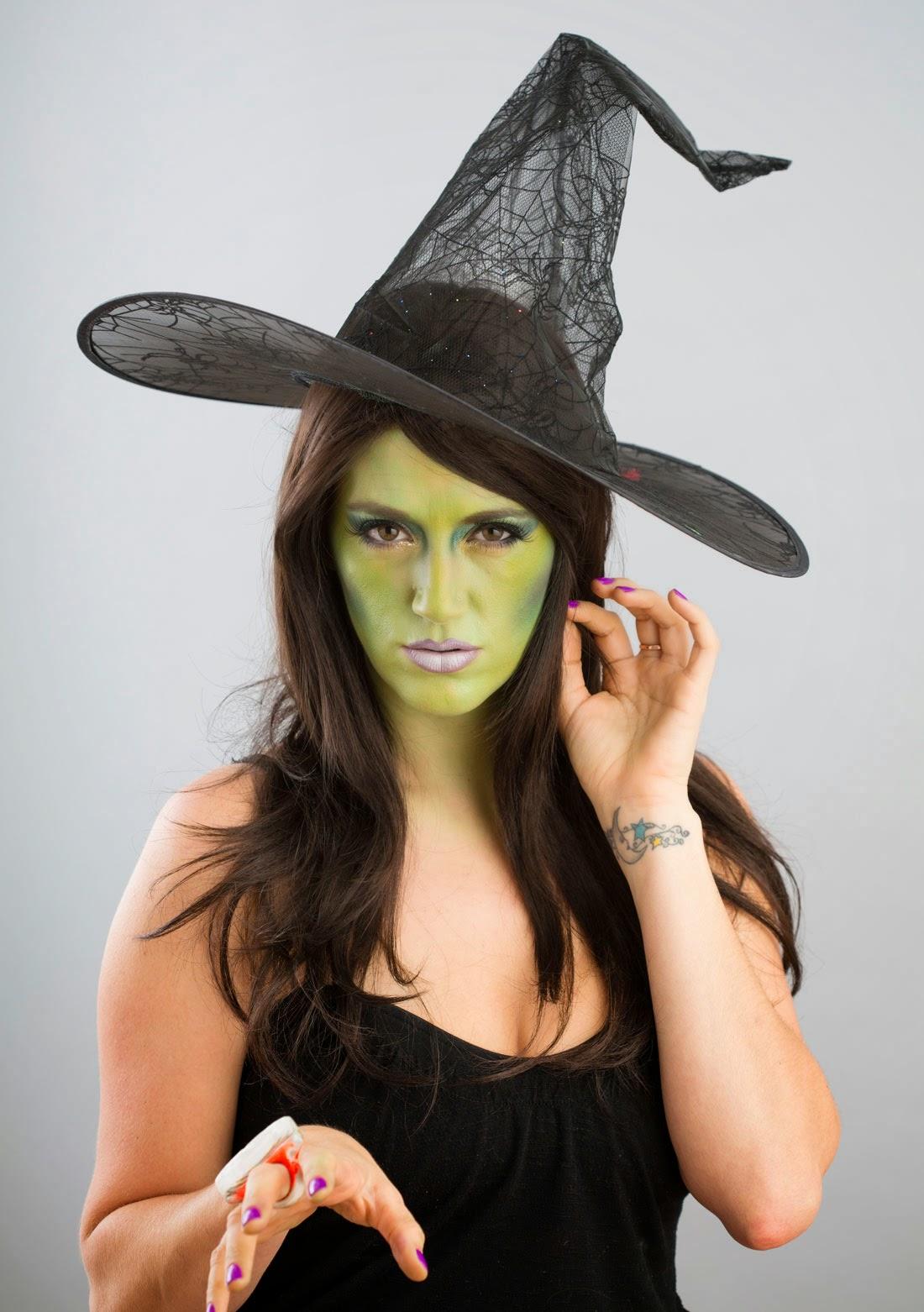 Caras Pintadas, Maquillaje de Halloween, Diseño Bruja