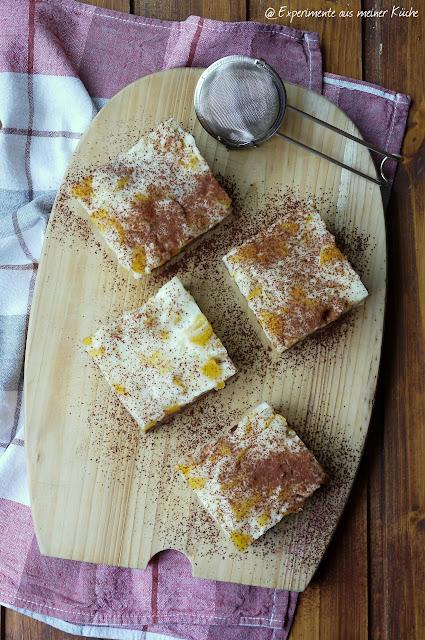 Experimente aus meiner Küche: Schoko-Pfirsichkuchen vom Blech