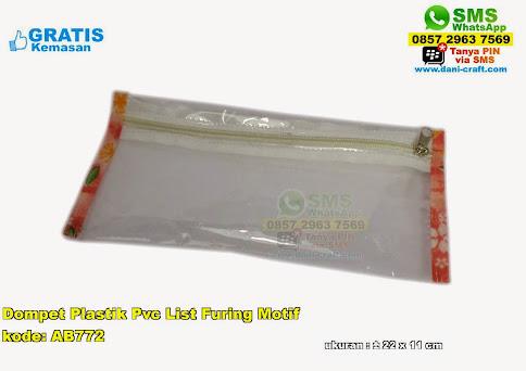 Dompet Plastik Pvc List Furing Motif