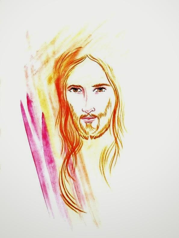 El Rincón de las Melli: Rostro de Jesús en color