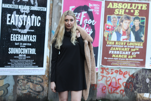 roll neck dress in the style blog