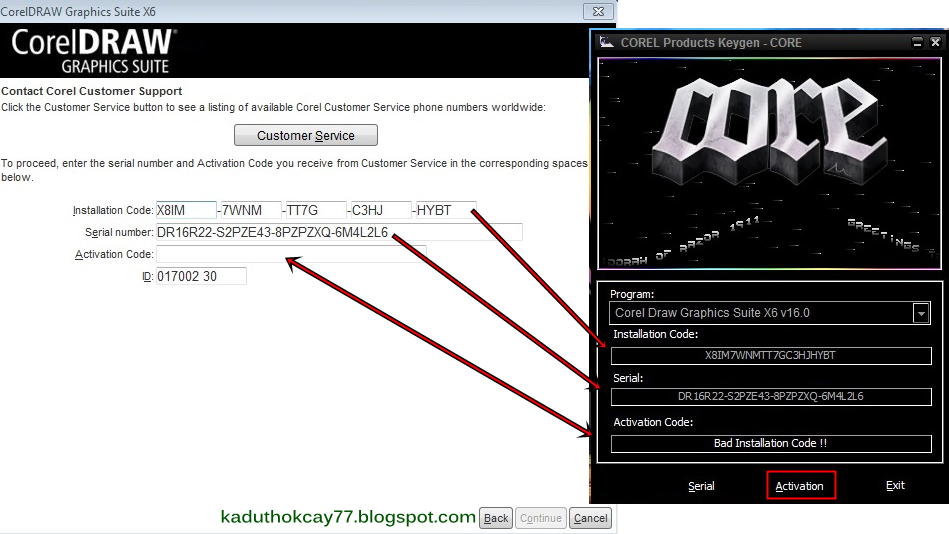activation key for coreldraw x6