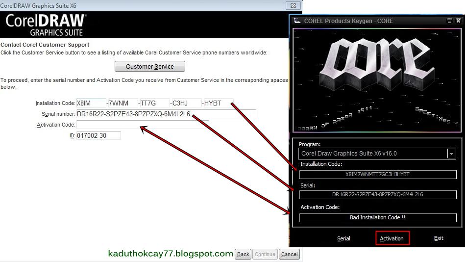 Aktivasi Corel Draw X6 + keygen