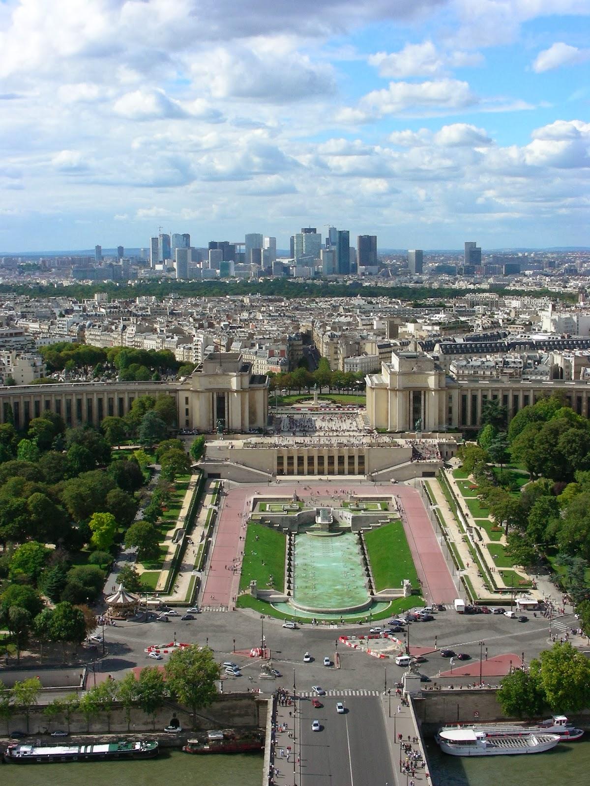 Jardines de Trocadero y Palacio de Chaillot desde la Torre Eiffel