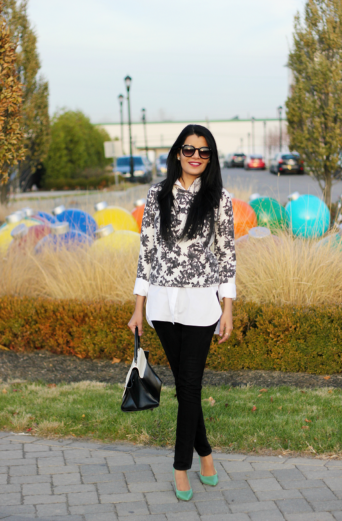 Floral Sweatshirt, JCrew Floral Sweatshirt, Endless Shirt JCrew, Nine West Flax review