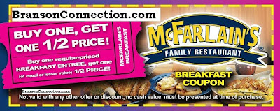 Branson discount coupons for restaurants