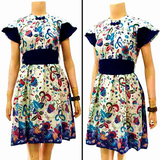 DB3231 Mode Baju Dress Batik Modern Terbaru 2013