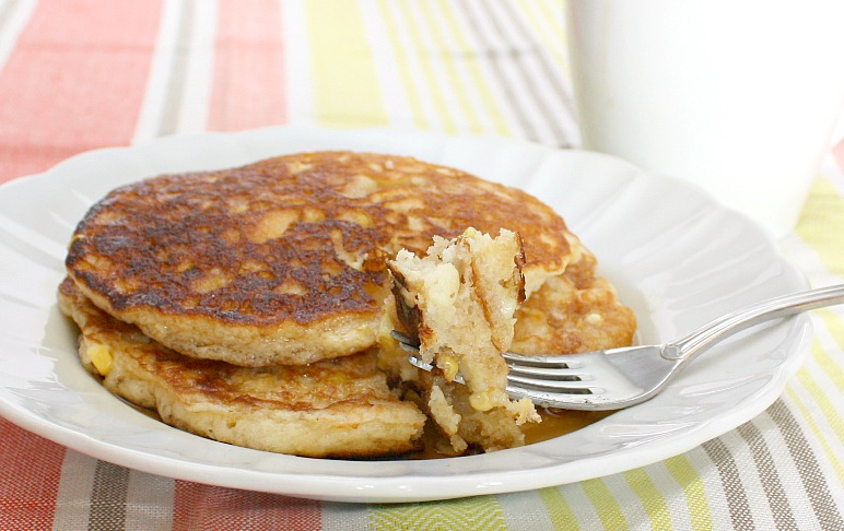 APPLE A DAY: Meatless Monday--Fresh Corn Pancakes
