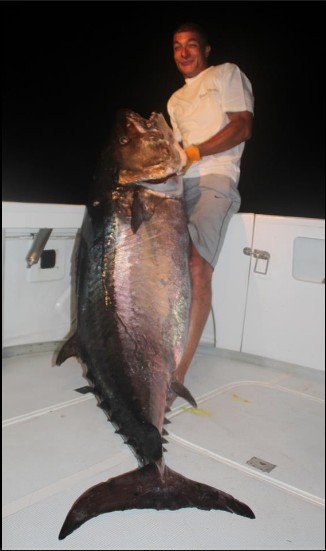 International fishing news rodrigues island a 220 lb for Is tuna fish good for dogs