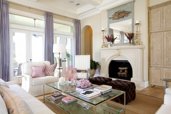 2013 Stylish And Feminine Living Rooms Decorating Ideas | Modern ...