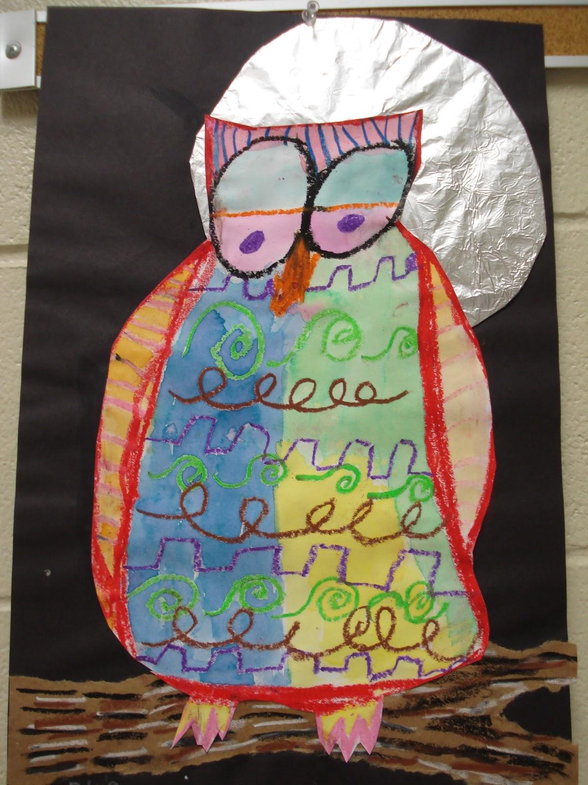 COLOR for EVERYONE: Mixed Media Owls-Second Grade