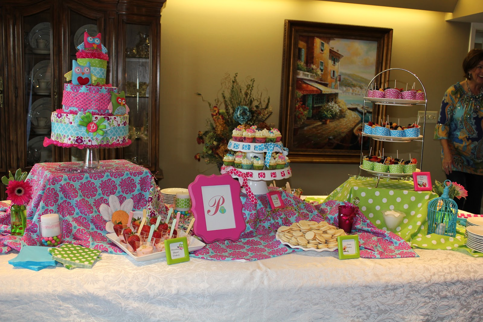 this was a baby shower for a sweet girl who had the cutest baby