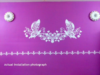 Butterfly wall sticker design
