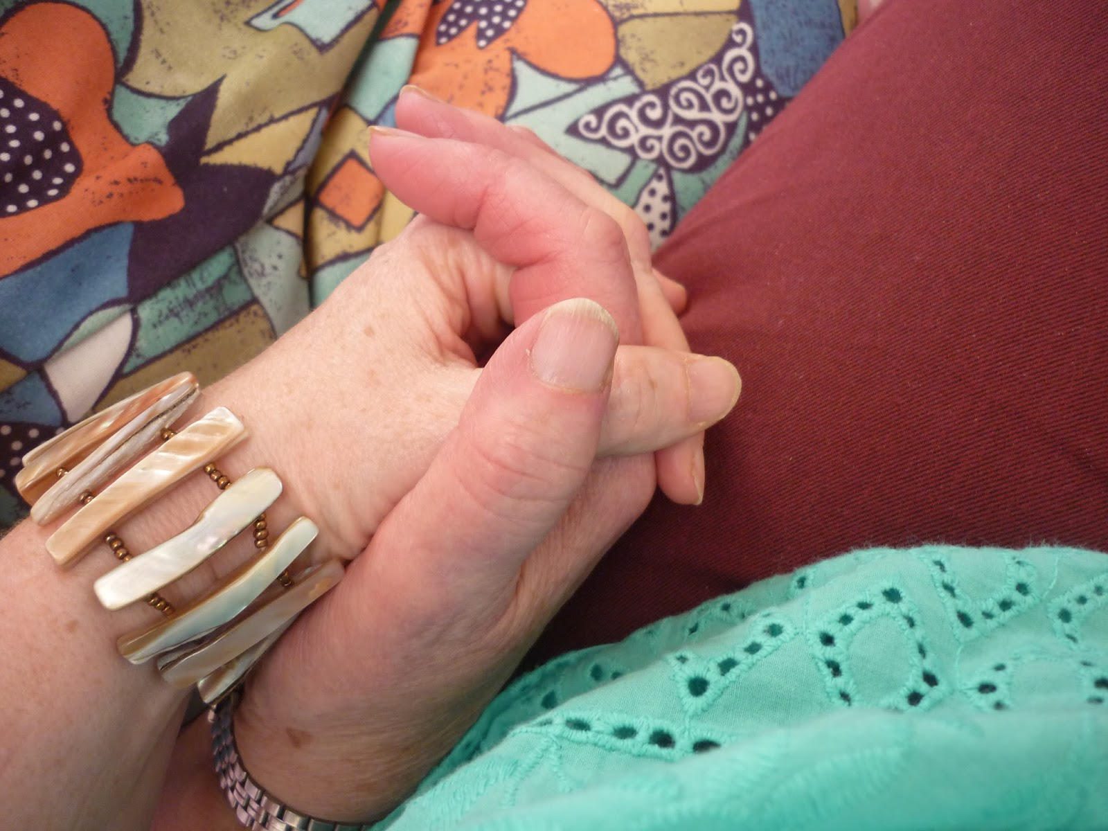 Mother and Daughter holding hands   Petite Silver Vixen