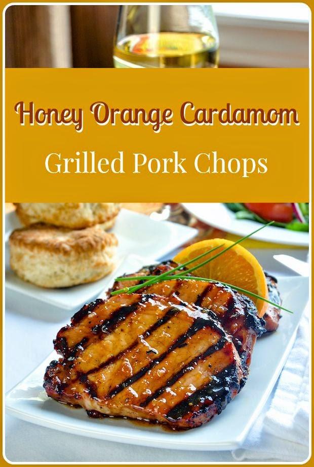 HONEY ORANGE CARDAMOM ORANGE GLAZED PORK CHOPS by Rock Recipes