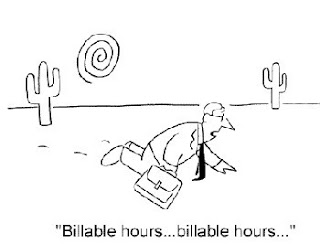 Cartoon: attorney dying for billable hours