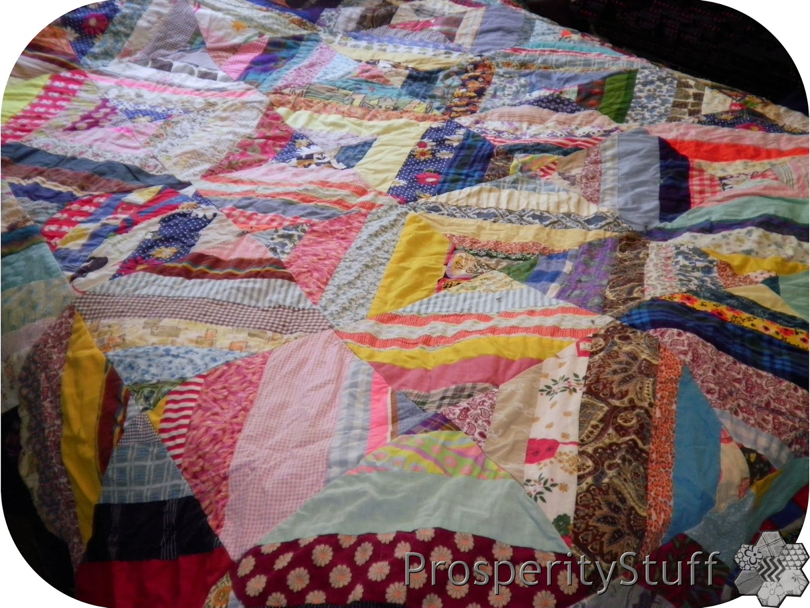 Queen-sized Vintage Quilt Top