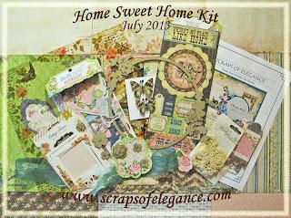 Scraps of Elegance July Home Sweet Home Kit