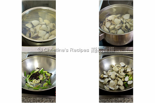 豉椒炒蜆製作圖 How To Stir Fry Clams