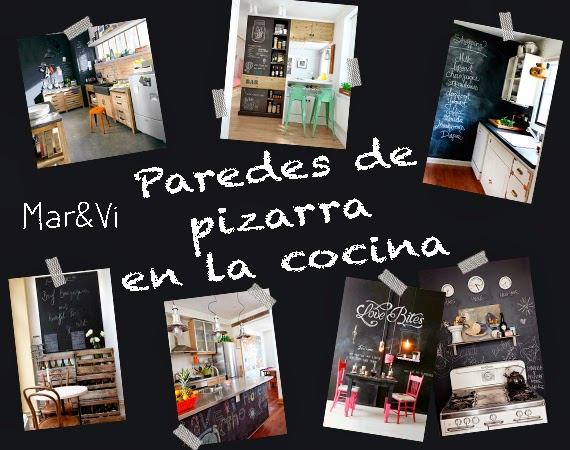 Mar&vi blog: cocinas decoradas con paredes de pizarra