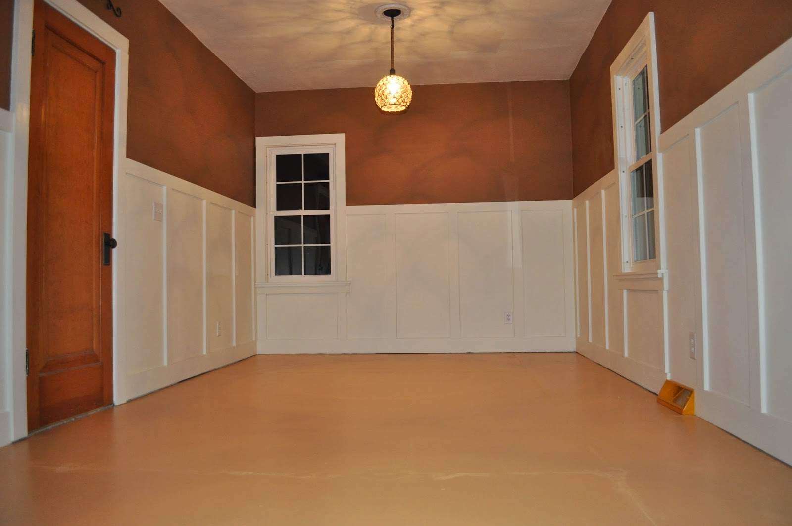 wainscoting, bedroom reno, bedroom redo, white paint, chocolate paint, lighting, menards, new windows, jeld wen windows, lighting, replacing fans, fans, lighting install