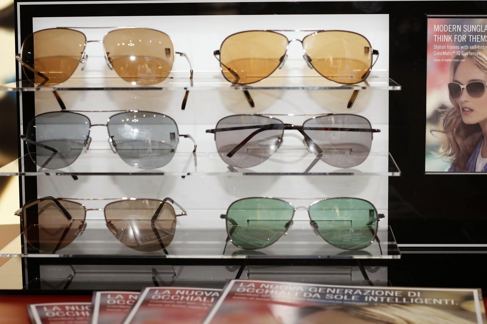 occhiali da sole intelligenti, rodestock, lente cromatiche a protezione solare, donna , uomo