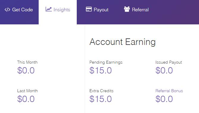Cara mendaftar, menempatkan kode iklan dan mendapatkan pembayaran 10 ...