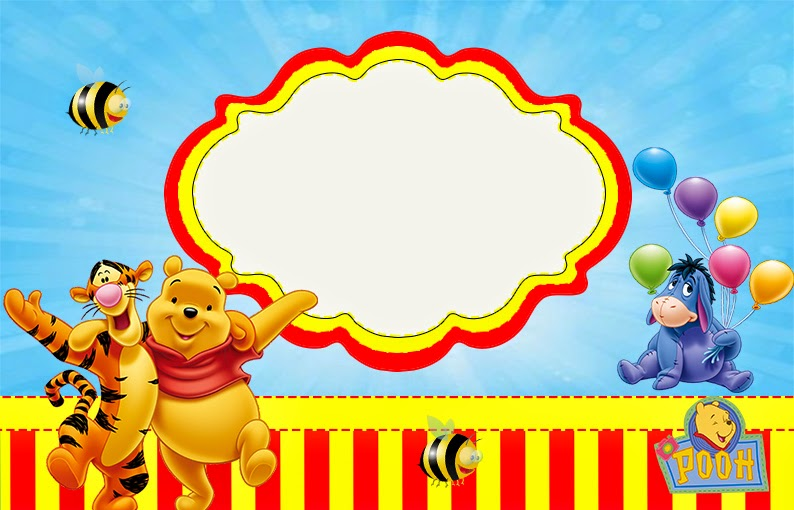 winnie the pooh party free printable invitations.  is it for, Birthday card