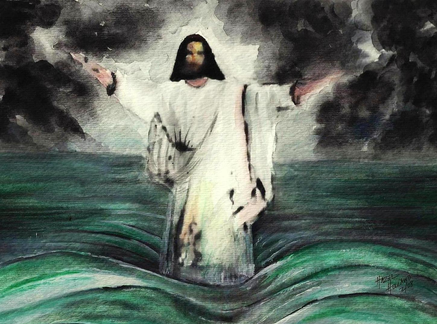 the images for u003e black jesus walking on water