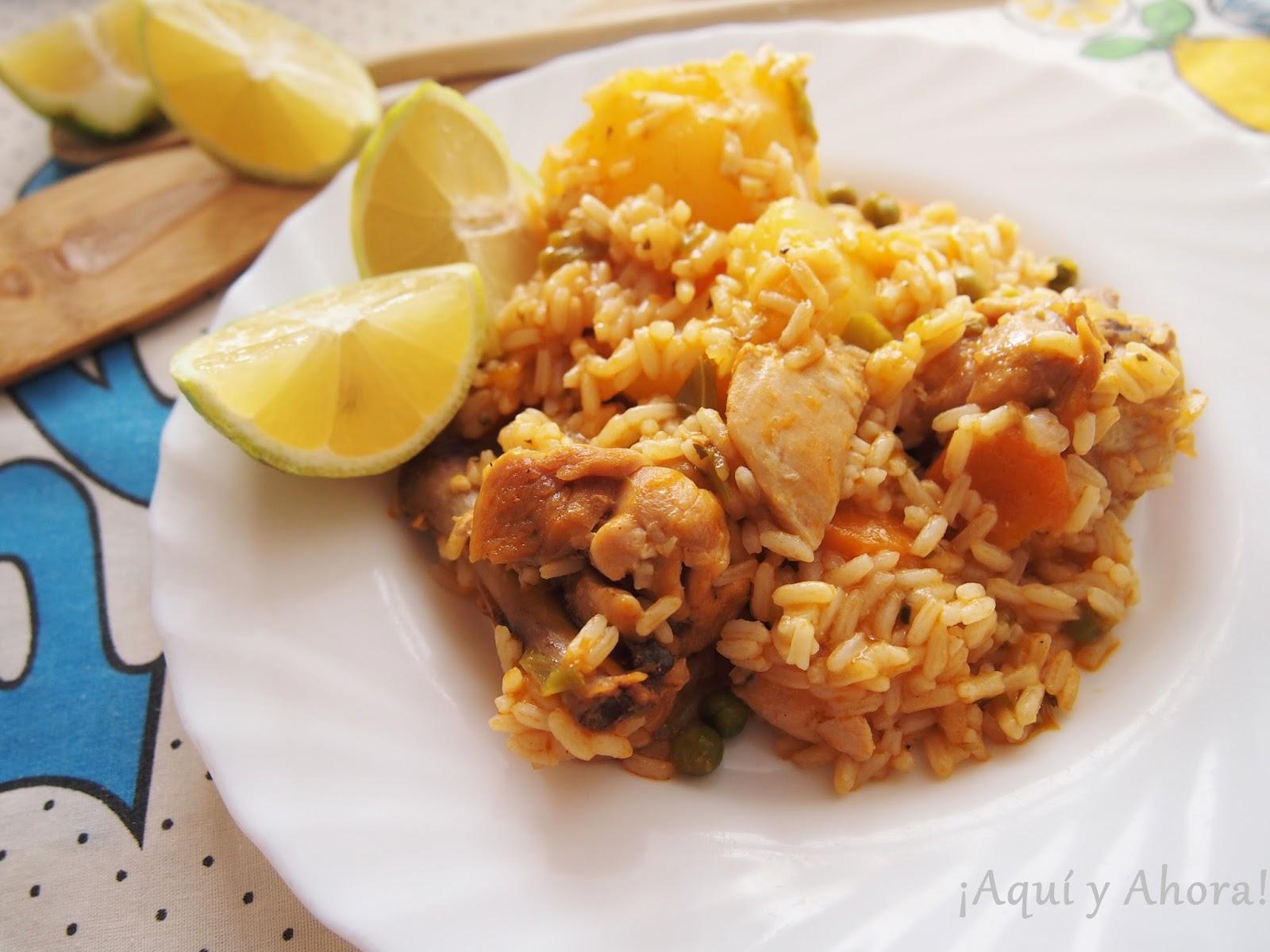 Aqu y ahora arroz con pollo en olla express - Judias pintas con arroz olla express ...