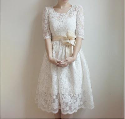 Ellie Lace and Cotton Wedding dress