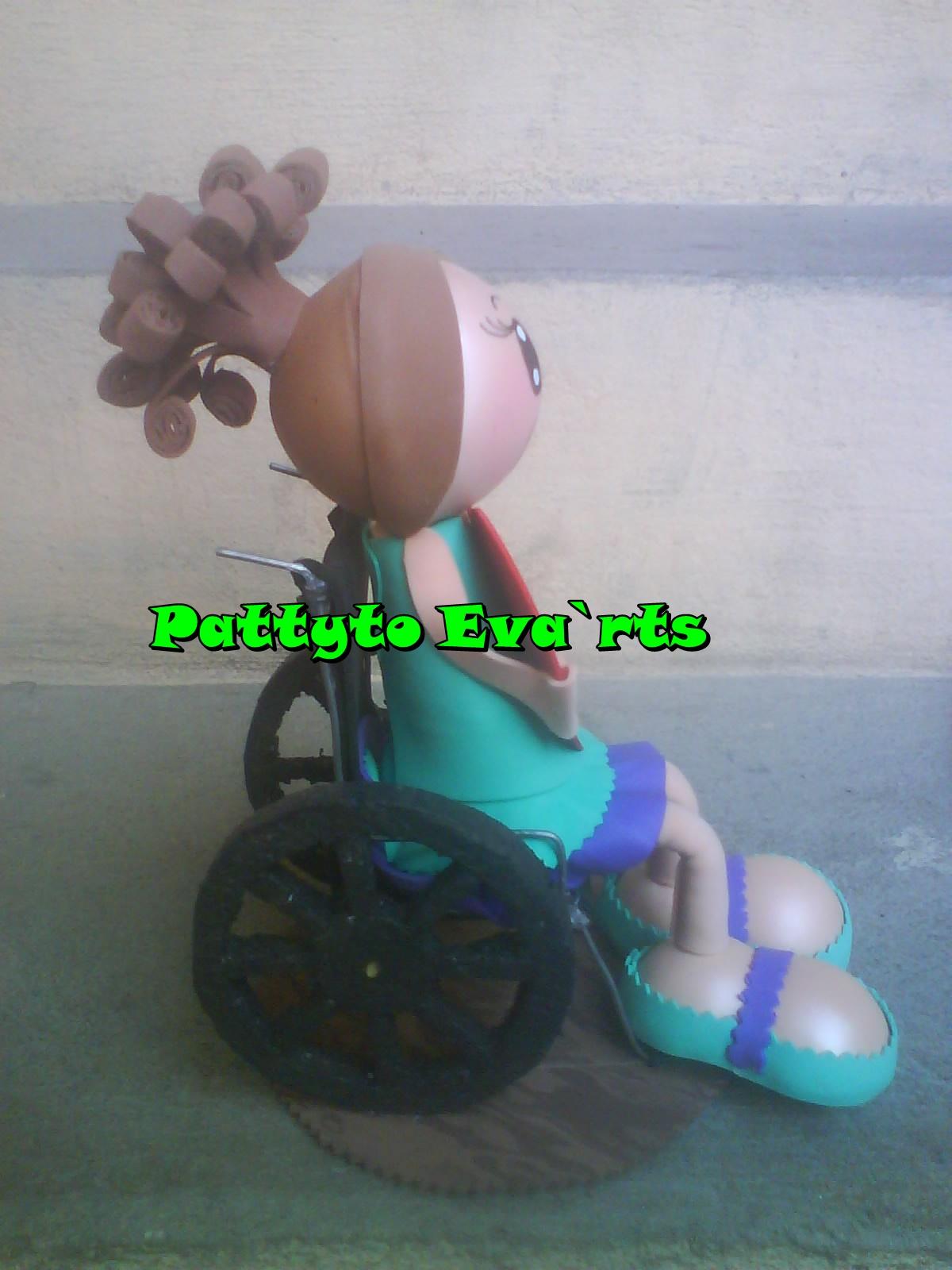 Pattyto eva rts fofucha en silla de ruedas for Ruedas de goma para sillas
