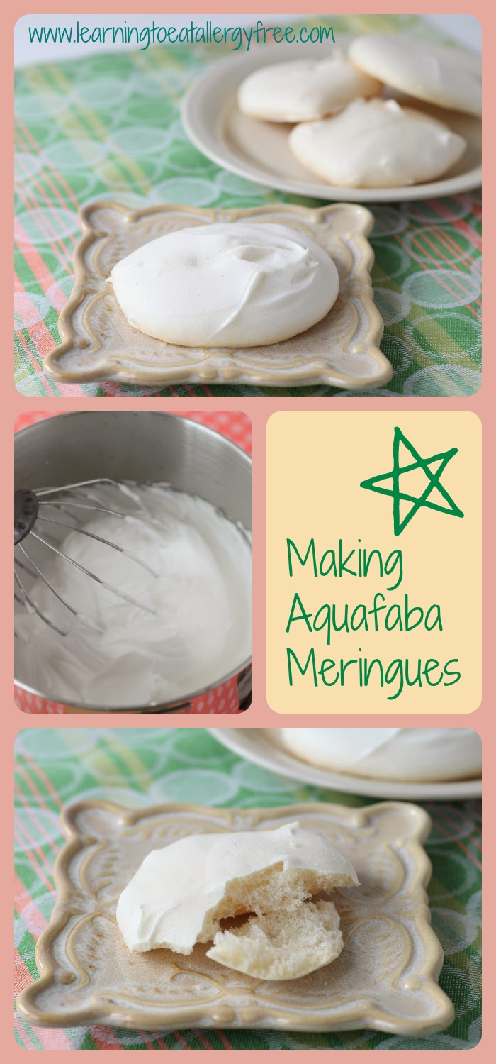 Amazing meringues made with bean brine. They melt in your mouth!