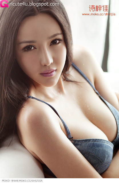 Shi-Zi-Jia-Denim-Lingerie-05-very cute asian girl-girlcute4u.blogspot.com