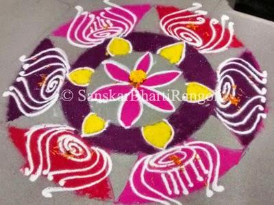 Simple rangoli designs sanskar bharti rangoli for Door rangoli design images