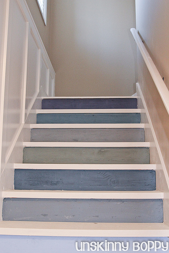 Painted river painted stairs for Painted stair treads