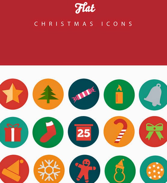 Christmas Flat Icons Pack