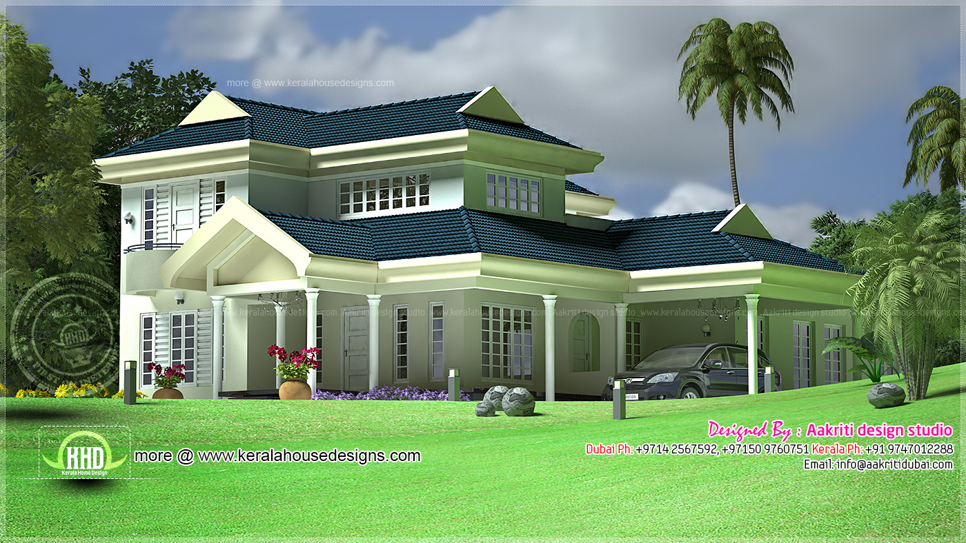 middle class family villa design kerala home design and On middle class house plans with photos